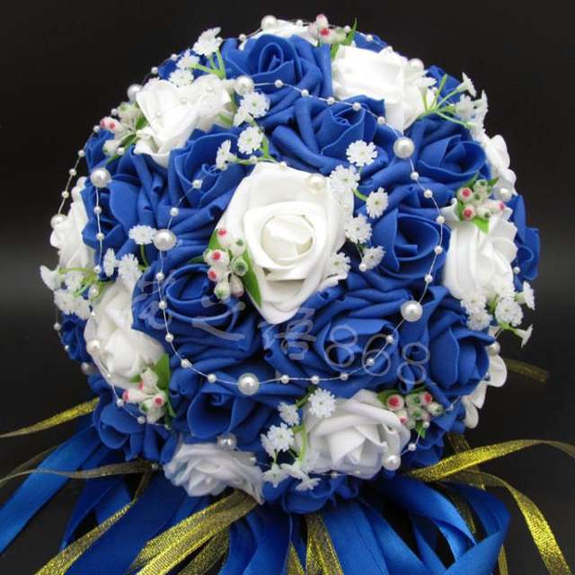 Perfectlifeoh Bridal Bouquet Hot Sale Artificial Rose Flowers