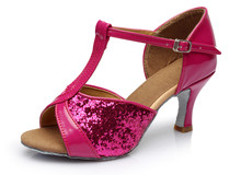 Hot Sale women s Latin dance shoes square and thin heel high quality ladies salsa dance