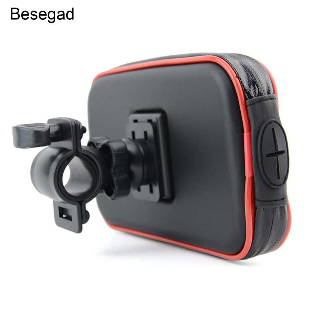 Besegad Universal <font><b>Bike</b></font> <font><b>Phone</b></font> Mount Life Waterproof Bicycle Motorcycle Handlebar <font><b>Holder</b></font> Bag for <font><b>Samsung</b></font> Galaxy S7 Edge S8 <font><b>S9</b></font> Note image