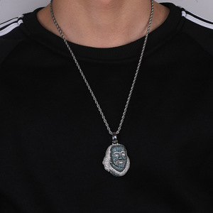 Image 4 - TOPGRILLZ ICEDOUT Blueface Benjamin Piece Pendant with Tennis Chain Bling Hip Hop Jewelry Street Culture