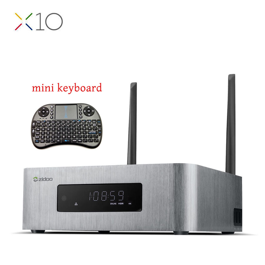 ZIDOO X10 Andoid 6.0 Smart TV Box Dual System Quad Core  2G/16G Dual Band WIFI 1000M LAN HDR USB 3.0 SATA 3.0 Media Player original zidoo x9s smart tv box android 6 0 openwrt nas realtek rtd1295 2g 16g 802 11ac wifi bluetooth 1000m lan media player
