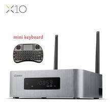 ZIDOO X10 Sistema Andoid 6.0 Smart TV Box Dual Quad Core 2G/16G HDR de doble Banda WIFI 1000 M LAN USB 3.0 SATA 3.0 Reproductor de Medios