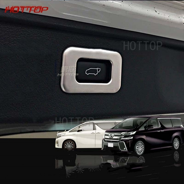 all new vellfire 2015 interior toyota yaris trd sportivo terbaru car trunk power tailgate rear door switch button frame cover for alphard 2016 2017 2018