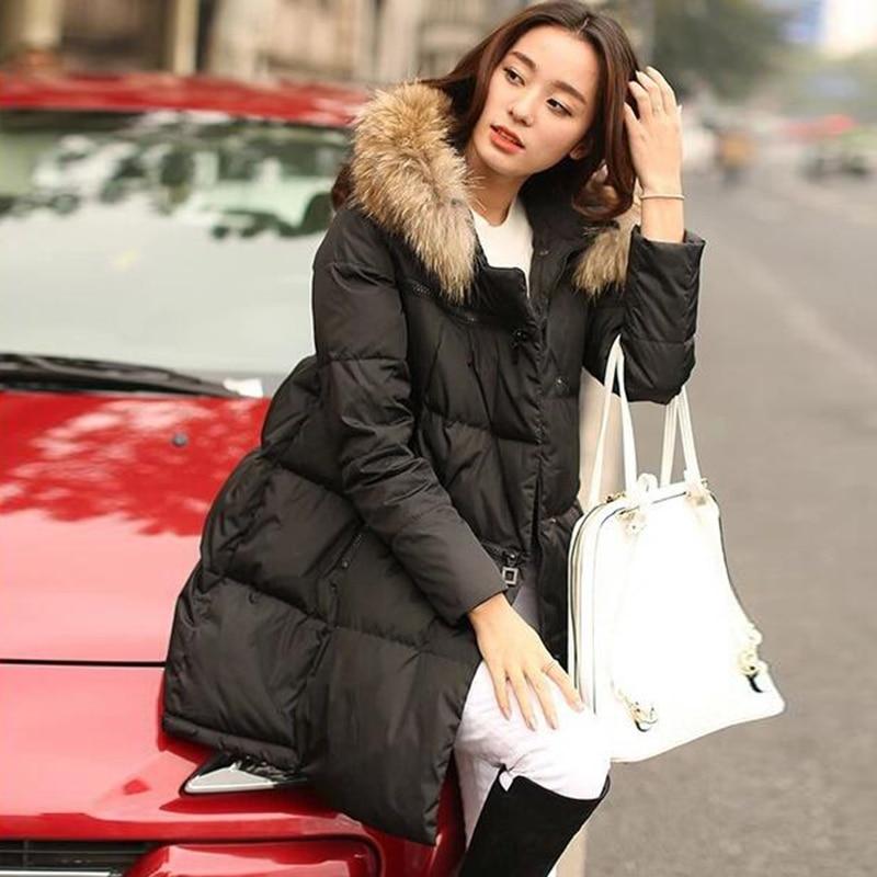 Winter Long Plus Size 5XL Jacket Women   Parka   Thick Warm Fur Hoodie Coat Vintage Oversize Autumn Outerwear LM042