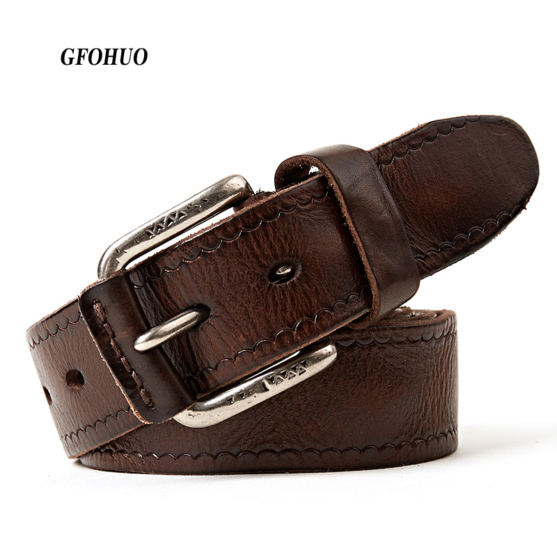 new genuine leather belts for men cowboys jeans natural vintage high quality full grain vegetable tanned real strap cintos
