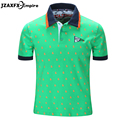 2017 New Men Green Polo Shirt Short Sleeve Men Solid Polo Shirt High Quality Men Summer Clothing 100% Cotton