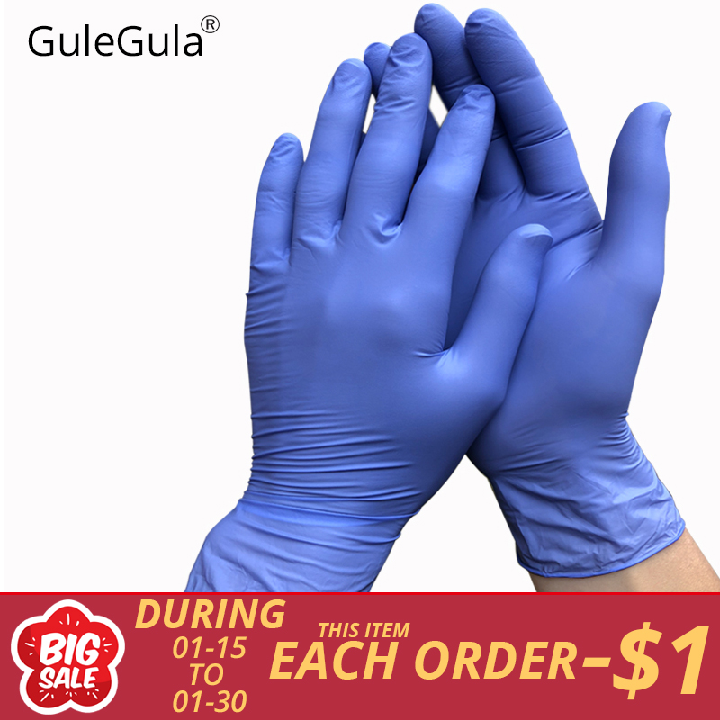 50Pcs Blue Disposable Gloves Latex For Home Cleaning Disposable Food Gloves Cleaning Gloves Universal For Left