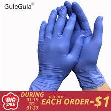 50 шт. синий одноразовые перчатки латексные для домашней очистки одноразовые перчатки, пищевое качество чистящие перчатки универсальные для левой и правой руки