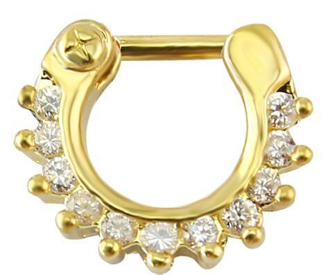 Stainless Steel Nose Rings 14g 16g Septum Clicker Bull Ring Trendy