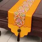 Высококачественный нефритовый лоскутный китайский Настольный бегун, украшение, роскошные коврики для стола, высокая плотность, шелковая п...