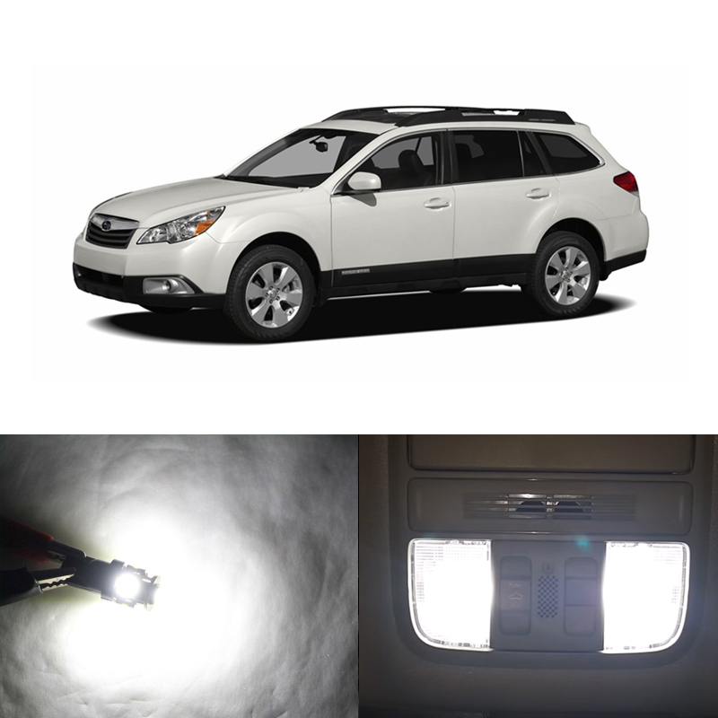 Fits <font><b>Subaru</b></font> <font><b>Outback</b></font> 2010 2011 2012 White CANbus Led Interior Package Kits Replace Map Dome Trunk <font><b>Door</b></font> License Plate Light image