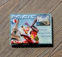 Stamp type Paris Tourist souvenir fridge stickers