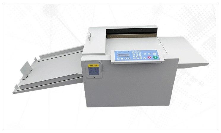 חדש אוטומטי דיגיטלי נייר גזירת מחוררי 2 ב 1 מכונת וניקוב מכונה ספר עמוד השדרה קמט