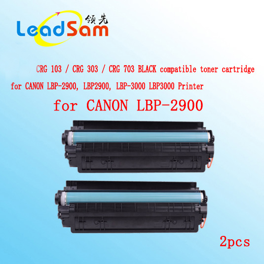 2pcs crg103 crg303 crg703 compatible black toner cartridge for canon lbp 2900 lbp2900 lbp. Black Bedroom Furniture Sets. Home Design Ideas