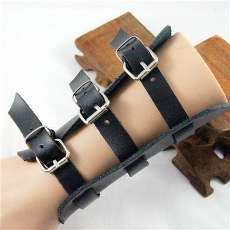 Star Love Punk Rock Metal Style Rivet Leather Cosplay Costumes Props Hand Strap Cuff Wrist Guard Middle Ages Accessories 1