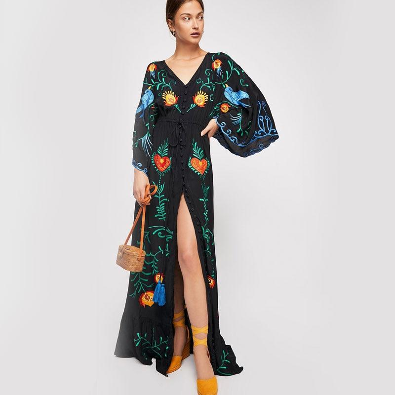 Купить летнее новое богемное туристическое курортное платье с свободным
