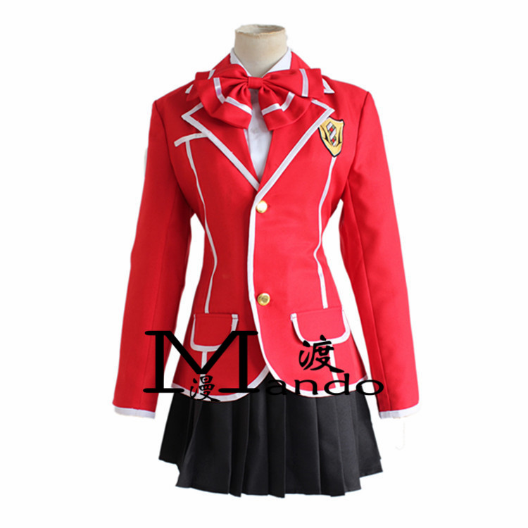 Halloween party costumes Anime Guilty Crown Cosplay Clothes GC Yuzuriha Inori Girl School Uniform Outfit Costumes