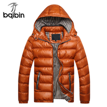 Parka Men 2017 Winter Jacket Men Coat Slim Casual Cotton Padded Hooded Hombre Parka Mens Coats Jackets Warm Thick Outwear