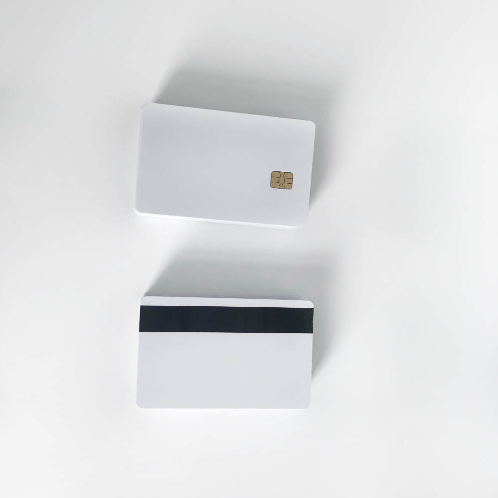 120PCS Inkjet contact SLE4442 chip pvc card with magnetic stripe for membership card printing by Epson