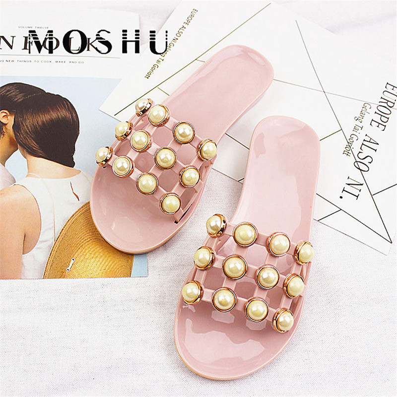 где купить Women Fashion Slides Summer Bead ladies Slippers Sandals Gladiator Beach Shoes String Sandalias Zapatos Mujer по лучшей цене