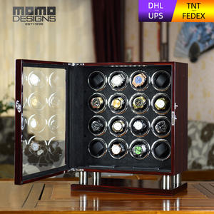 Watch Winder Exclusive Automatic Mabuchi Motor Black with And LCD Touch Screen Suede Insert