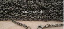 Free shipping Wholesale gunmetal 0 shape + Link chain 4mmx5 mm with lobster clasp Reserve list  for beth quinn 300pcs/lot