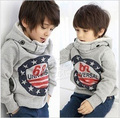 2016 Winter High Quality Boys Clothing Child Hood Fleeces Weatshirt Baby Fashion Outerwear Thickness Hoodies