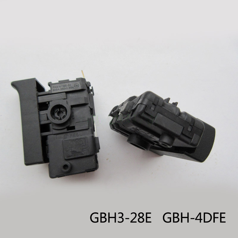 Free shipping! Boutique Electric hammer Drill Speed Control Switch for Bosch GBH3-28E GBH-4DFE, Electric hammer Tool Accessories free shipping electric hammer drill speed control switch for bosch gbh20 24 gst85pbe power tool accessories