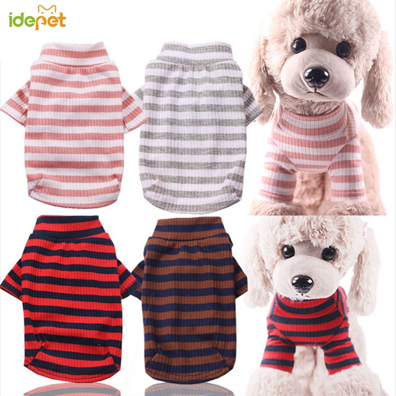Dog Clothes Striped Dog Shirts For Small Medium Dogs Autumn Winter Pet Clothing For Yorkies Chihuahua Clothes Dog Clothing 11b2