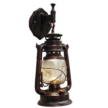 E27 Retro Antique Vintage Rustic Lantern Lamp Wall Sconce Light Fixture Outdoor living room wall light vintage lights for wall(China)