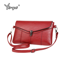 YBYT brand women vintage casual clutch bags PU leather ladies bullet hasp evening bag simple fashion shoulder crossbody bags