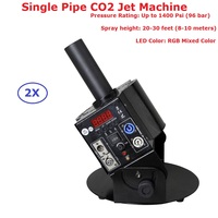 2 шт./лот оптовая продажа DMX512 одной трубы этап Co2 ткацкий станок DMX 6 Каналы, CO2 дым машины специальные эффекты пушки