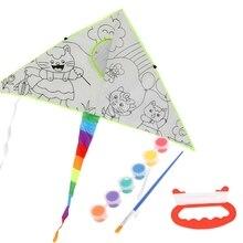DIY картина воздушный змей с рисунком воздушный змей для детей дети летающие игрушки на открытом воздухе
