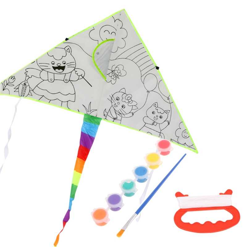 Detail Feedback Questions About New Diy Painting Kite With Drawing