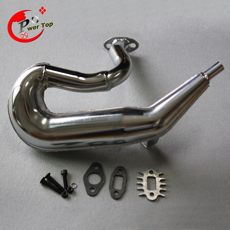 FVITEU Metal Exhaust pipe/tuned pipe for 1/5 HPI ROVAN  5b ss king motor-in Parts & Accessories from Toys & Hobbies
