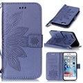 Цветочным Узором PU Кожаный Бумажник Flip Book Cover Case для iPhone 6 6 S 7 5S SE 5/6 6 S Plus/7 Плюс Телефон Case With Carry ремень