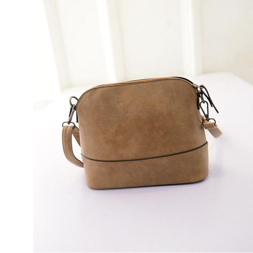 2017 New fashion women's messenger bag scrub shell bag Nubuck Leather small bags over the shoulder womens purses and handbaNov25