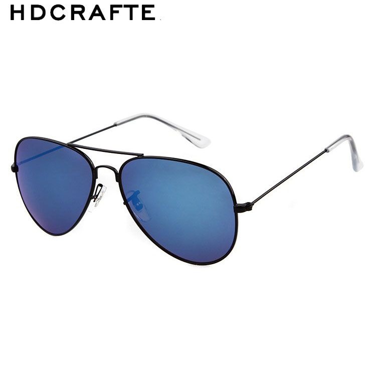 HDCRAFTER 2016 font b fashion b font Retro Alloy Frame Sun glasses Male Man Luxury classic