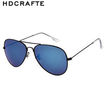 HDCRAFTER 2016 fashion  Retro Alloy Frame Sun glasses Male Man Luxury classic Metal leisure Sunglasses Anti Glare