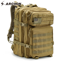 S.ARCHON Military Backpack Large Capacity Waterproof Army Molle Bug Out Assault Bag Multifunctional Soldier Battle Field Bag