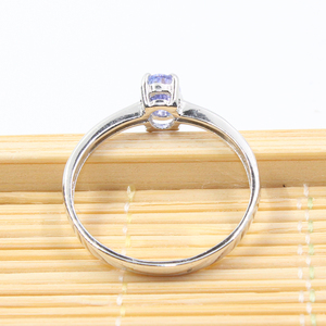Image 5 - Hotsale silver tanzanite ring 4 mm * 6 mm real tanzanite ring for engagement solid 925 silver tanzanite ring romantic gift