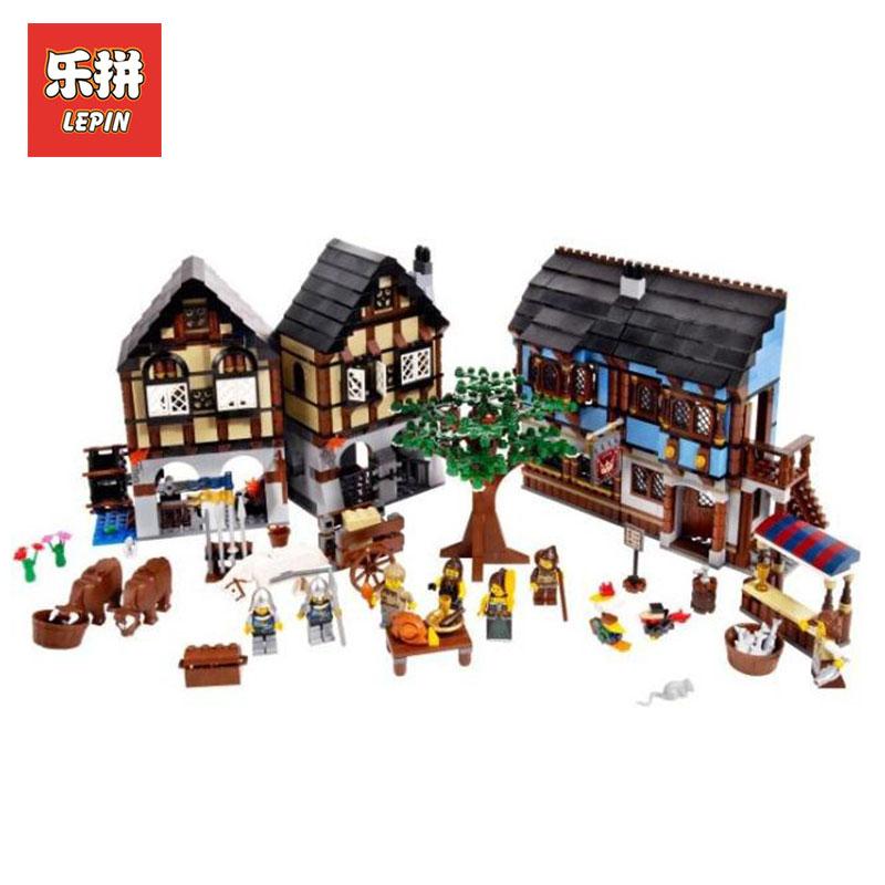 цена на LEPIN 16011 1601Pcs Castle Series Medieval Market Village model Building kits Blcoks Bricks Toys for boys LegoINGlys 10193