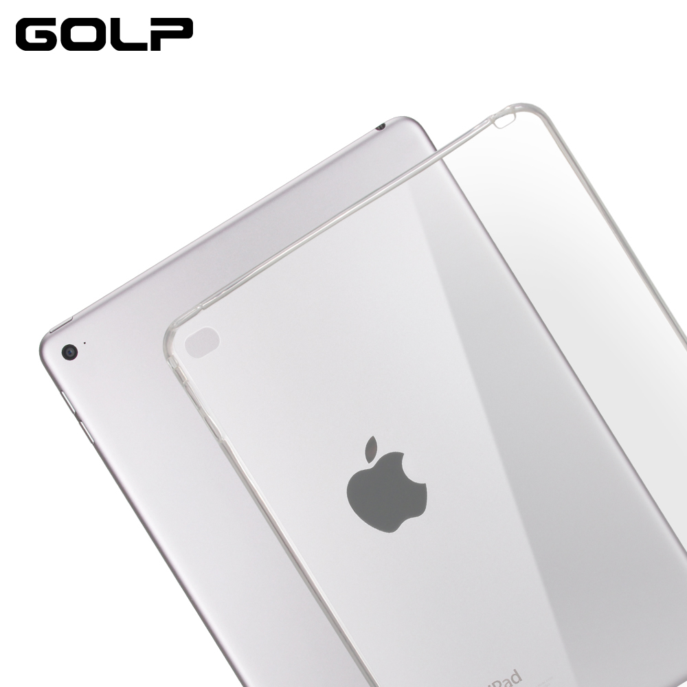 For iPad Air 2 Case, GOLP Soft TPU Case For iPad Air 2 case Cover Shell, Transparent Soft Silicone Back Cover for iPad 6 soft tpu tablet back case for ipad air 1 2 silicone transparent cover for ipad mini 1 2 3 for ipad2 3 4 crystal protective case