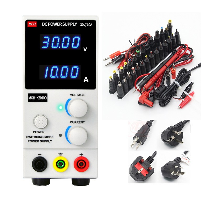 MCH-3010D 4-digit display DC power supply 30V 10A digital high-precision ammeter for notebook phone repair 110V 220V mystery mch 1025