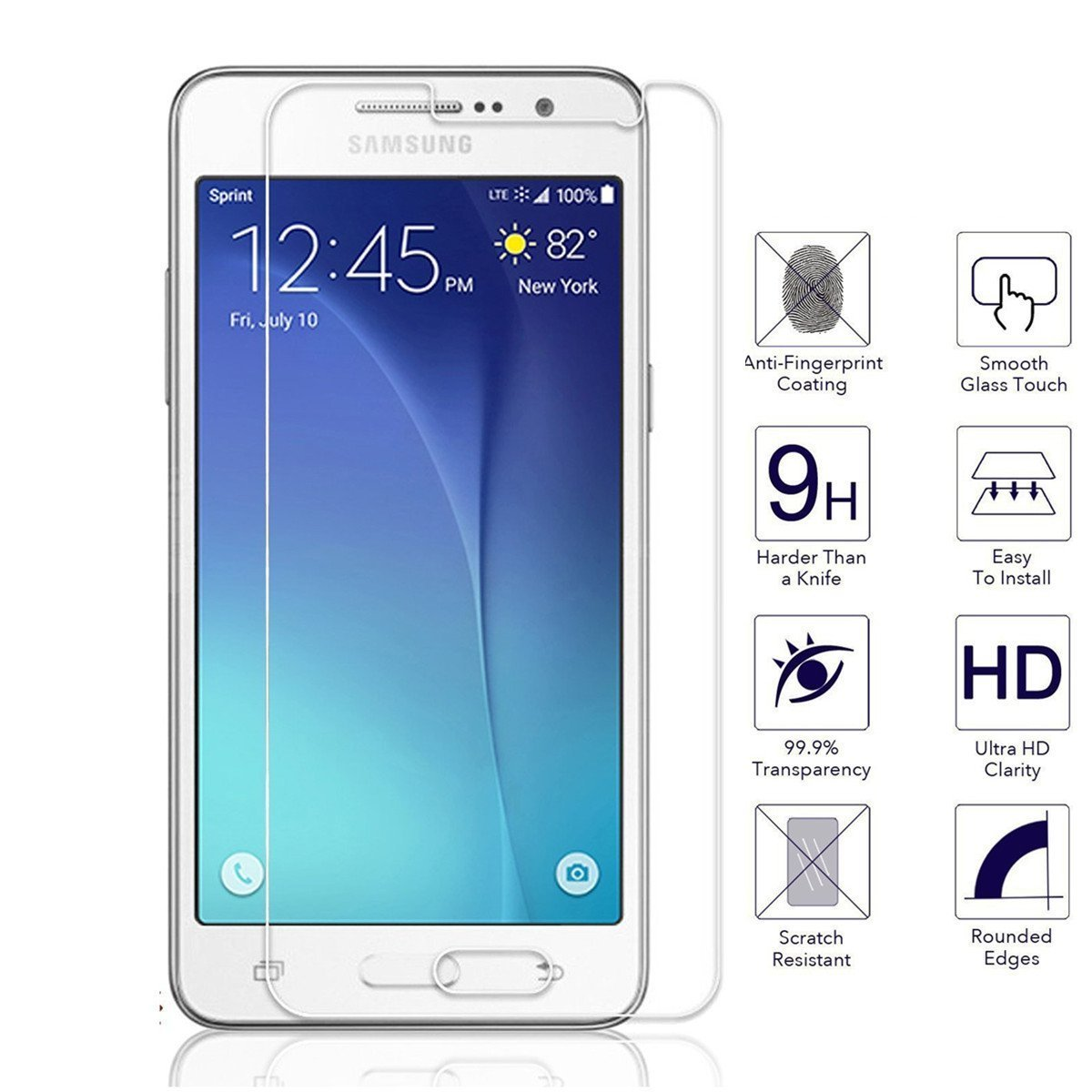 Tempered Glass Premium Full Cover Screen Protector For Samsung ...