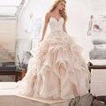 Великолепная Бальное платье Принцессы Свадебное Платье 2017 Кружева Sexy Спинки Невесты Платье с Бретельках Casamento Vestidos de Noiva