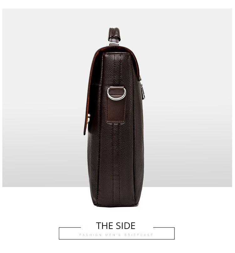 HTB1ywQZO4TpK1RjSZFKq6y2wXXaD 2020 Fashion Business Men Briefcase Leather Laptop Handbag Tote Casual Man Bag For male Shoulder Bag Male Office Messenger Bag