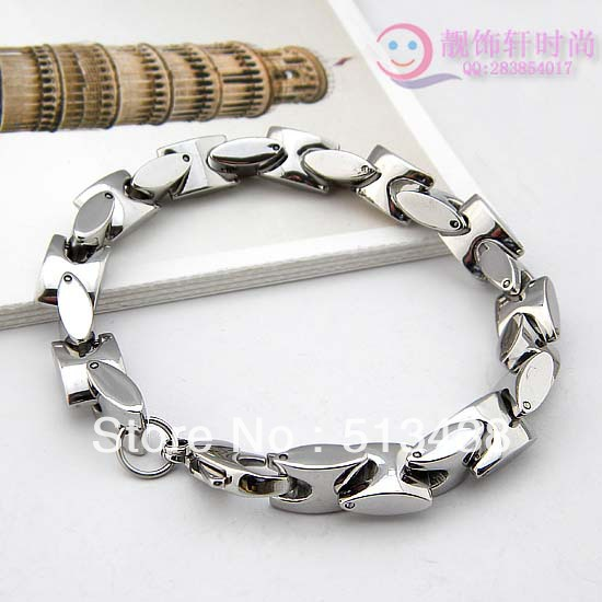 Top Quality Heavy Stainless Steel Bracelet Charm Solid Link Bangle For Men S Jewelry 9mm Silver