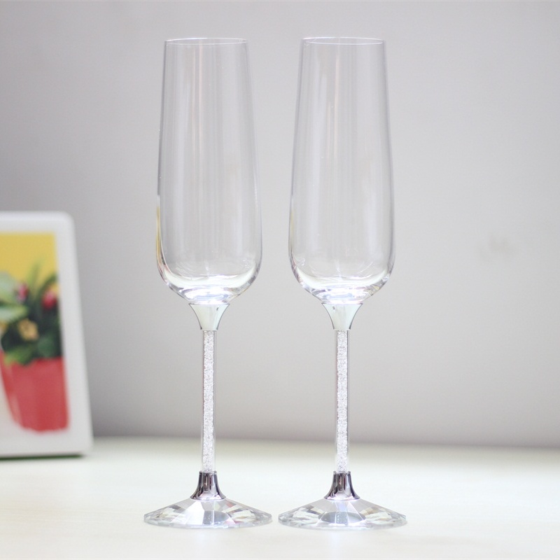 يحمص كؤوس النبيذ مجموعة النبيذ كؤوس النبيذ الشمبانيا الزفاف النبيذ الشمبانيا الشخصية المزامير هدايا عيد الميلاد