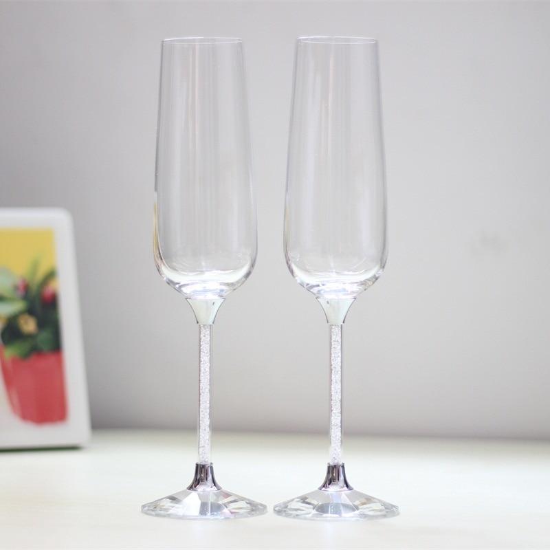 वाइन ग्लास को चखने के सेट क्रिस्टल वाइन गॉब्लेट वेडिंग शैम्पेन वाइन ग्लास व्यक्तिगत शैंपेन बांसुरी जन्मदिन का उपहार